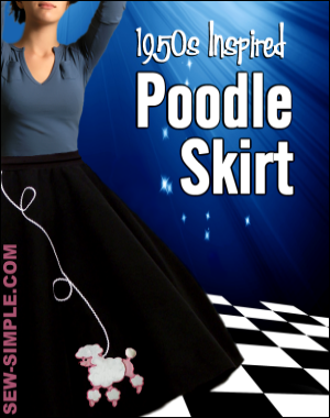 poodle skirt pattern
